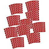POFET 50pcs Red Disposable Peel Off Tape Nail Art Auslaufsichere Hautbarriere Polish Protector Cover Guard