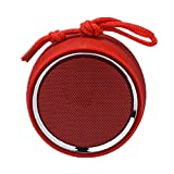 CHYSP Bluetooth-Lautsprecher V5.0 Drahtlose Lautsprecher 3D Stereo Outdoor Home Kleiner tragbarer Lautsprecher (Color : Red)