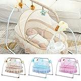 Elektrische Wiege Bett Bluetooth Bett Neugeborene schlafen,Drei-Gang-Swing, Drei-Gang, Timing, Fernbedienung, USB-Musik, Bluetooth-Musik, für 0-18 Monat (Khaki)