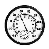 Ctzrzyt 10 Zoll Indoor AuuEn Wetter Thermometer Hygrometer für Terrasse, Wand oder Dekorative Keine Batterie BennTigt