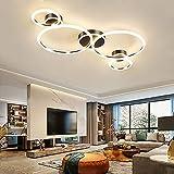LED Deckenlampe Dimmbare Deckenleuchte Gold Rund Ring Design Deko Wohnzimmerlampe Moderne Schlafzimmerlampe mit Fernbedienung Decken Pendelleuchte Büro Esszimmer Esstisch Badezimmer Flur Küchen Lampe