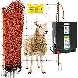 Agrarzone Schafzaun Komplett-Set DUO 3000 12V/230V, 4,5J, Netz 50m x 90cm orange | Stabiles Schafnetz-Set mit Weidezaungerät | Beste Hütesicherheit für Schafe Ziegen | Weidezaun Elektrozaun Ziegenzaun