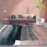 Teppich Modern Designer Teppiche Abstrakte geometrische rosa graue st Schlafzimmer Zimmer Teppich Sofa Tisch Kind Krabbeln Matte 160×200M (5ft3 x 6ft6)