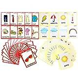 Set von Kleidung und Wetter-Karteikarten für Kleinkinder   Lernkarteikarte & Montessori Taschen-Karten Spielzeug Perfekt Pre-K Decor Hintergrund Wandaufkleber, Lehrer/Autismus Therapeuten Werkzeuge
