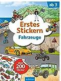Erstes Stickern Fahrzeuge: Über 200 Sticker | Erstes Stickerheft für Kindergarten-Kinder ab 3 Jahren