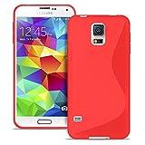 Handy-Hülle in Rot für Samsung Galaxy S5 Mini   Ultra-Slim Case   S-line Bumper