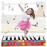 LFFME Lernspielzeug Für Kinder Ab 3 Jahren, Kinder Klaviermatte, 10 Klaviertasten Spielmatte Spiel Tanzdecke Teppichmatte Mit Schallplatte, Wiedergabe, Demo