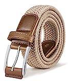 BULLIANT Gürtel Herren Stretchgürtel Geflochten Unisex, Herren-Flechtgürtel Elastisch Stoffgürtel für Damen und Herren,Breite 35mm