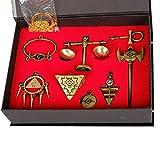 Yugioh Millenium Puzzle Ring Skala Schlüssel Halskette & Schlüsselanhänger Spiel Cosplay Kostüm Schmuck Zubehör Kollection Box Set
