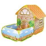 YAMMY Kinder Pop Up Crawl Tunnel Zelt Spielhaus Indoor Outdoor Abenteuerspiel Tragbares Kinderspielzeugzelt mit Tragetasche für Jungen, Mädchen, Babi (Zelt)