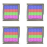 LED RGB Vitrinenbeleuchtung Glasbodenbeleuchtung Möbelleuchte Schrankleuchte SET, Auswahl:4er SET, Form:Quadratisch