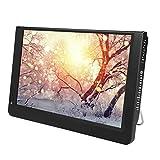 ASHATA Tragbarer Fernseher, 12 Zoll HD TV LCD Fernseher Digital Analog TV,1080P Mini LED T / T2 Digitalfernseher mit Antenne Fernbedienung für Auto Küche Schlafzimmer EU