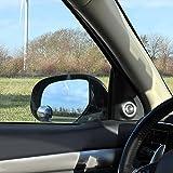 ProPlus 750612 Toter Winkel Spiegel (2 Stück) Zusatzspiegel rund randlos verstellbar konvex Ø50mm Durchmesser mit 3M Klebeband - Auto Weitwinkel-Spiegel Totwinkel-Spieg