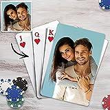 Personalisierte Pokerkarten mit Foto & Text Anzahl Plastik Wasserdicht Spielkarten mit Bedrucken Bild Kartenspiel mit Erwachsene Familie Freund Kinder Casino