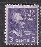 FGNDGEQN Briefmarken Vereinigte Staaten 3. Dritter Präsident / Thomas Jefferson / Charakterstempel