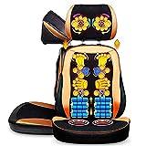 FYHpet Pad Electric Massage Sessel, Shiatsu Tiefes Back Massage Kneten Massagekissen mit Hubkopfstütze für Zuhause und Büro