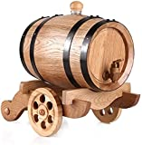 WSZYBAY Dekanter Whisky Dekanter Wine Dekanter 3L Eichenfass, Vintage Eiche Alter Wein Aufbewahrung Eimer mit Wasserhahn Spender für Wein, Spirituosen, Bier und Alkohol Whisky Dekanter (Farbe: B)