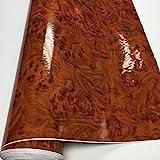 SANKUAI 1 stück 50 cm * 500 cm glänzend holzkorn Vinyl Auto wrapfolie Holz strukturiert Auto Aufkleber wasserdicht klebstoff Home möbel aufkupplung (Farbe : G1303, Größe : 40cm x 152cm)