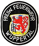 Freiwillige Feuerwehr - Wuppertal (Silber gestickt) - Ärmelabzeichen - Abzeichen - Aufnäher - Patch - Motiv 3