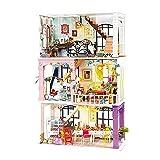 LZZB DIY Puppe Puppenhaus Holz Miniatur Haus für Geburtstagsgeschenk
