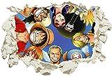 Unified Distribution One Piece - Wandtattoo mit 3D Effekt, Aufkleber für Wände und Türen Größe: 92x61 cm, Stil: Durchb