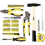 WMC TOOLS Werkzeug Set 101 teilig Werkzeugset Haushalt klein für erste Wohnung Starterset kleines Werkzeuge Set basic Hammer Zange Maßband