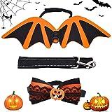 Tomicy Halloween Hund kostüm,Halloween Katze Kleidung, Haustier Halloween Kostüm,Pet Bat Wings,Halloween Kostüme für Katze & Hund Cosplay