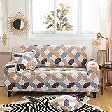 Sofa Überwürfe Jacquard Sofabezug Elastische Stretch Spandex Couchbezug Sofahusse Sofa Sessel Abdeckung in Verschiedene Größe und Farbe - Farbraster,3 Sitzer