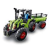 WWEI Technik Mini Traktor & Feldhäcksler, 2-in-1 Bausatz, Sammlung von Schwerlastfahrzeugen Kompatibel mit Lego-Statische Version
