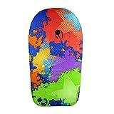 CGBF-Glattes Buntes Design Bodyboard Surfbrett Float mit Leinenstecker für Kinder Erwachsene Schwimmen Surfen,41 inches