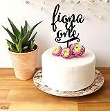 Personalisierbare Kuchendekoration für Geburtstagskuchen.