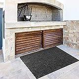 WENHAO Kamin-Schutzmatte, feuerfeste Kamin-Herdschutzmatte, feuerhemmend, rutschfest und Antifouling Bereich Teppich Pads für Grill oder Kamin (91,4 x 152,4 cm, schwarz)