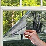 LMKJ Schwarz Silber Reflektierende Einwegspiegel Fensterfolie Sonnenblockierende Privatsphäre Vinyl Wohnkultur Glasaufkleber