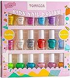 TOMICCA 18*5ml Kinder Nagellack Set, Nagellack Set Auf Wasserbasis, Non-toxic Nail Polish,Das ideale Geschenk für Mädchen zum Kindertag
