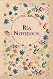 Ría Notebook: Lined Notebook/Journal Cute Gift for Ría, Elegant Cover, 100 Pages of High Quality, 6'x9' Lightweight and Compact, Premium Matte Finish