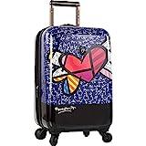 Heys 55 kleine Handgepäck Reisegepäck Koffer Trolley Herz Motiv Blau Bowatex