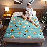 FZYE Japanische Bodenmatratze Futon-Matratze, Tatami-Matte Schlafpolster Faltbare Rollmatratze Jungen Mädchen Schlafsaal-Matratzenauflage Kinderbodenliege Bettstärke 3 cm/G / 180 * 20