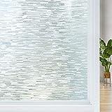 LMKJ Fensterfolie abnehmbare Glasfolie undurchsichtige Fensteraufkleber selbststatische Frischhaltefolie Vinyl-Heimglas-Dekorfolie