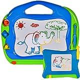 MalPlay 2 x Zaubertafeln für Kinder | Bunte Schreibtafel Zeichentafel mit 3 Stempel | Reisegröße | 2 im Set | Lernspielzeug für Kinder ab 3+ Jahre