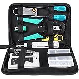 FIXKIT 12 in 1 Netzwerk Werkzeug Set mit lsa Auflegewerkzeug für Haushalt und Fabrik, Computer Wartung, LAN Kabel Tester