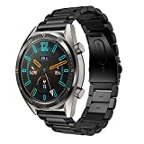 Supore Armband Kompatibel mit Huawei Watch GT2 46mm/Watch GT 46mm/Watch GT Active/Watch 2 Pro/Honor Watch Magic/Galaxy Watch 46mm/Gear S3/Gear 2, 22mm Rostfreier Stahl Ersatzarmband