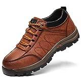Y-PLAND Frühlingsbaumwolle Schuhe Männer Warme Wanderschuhe, Kunststoffschuhe, Einzelne Baumwolle, Wähle Freizeitschuhe, Wanderschuhe-Single - Brown_EU4.