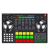 Bluetooth earphone Party Mix - Complete DJ Controller Set für DJ mit 2 Decks, Partylichtern, Kopfhörerausgabe, Performance-Pads für Live-Computer spezifiziert