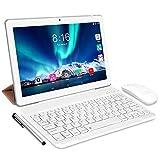 Tablet Android 10.0 - TOSCIDO Tablets 10 Zoll 4 GB/RAM,64 GB/ROM Tablet PC Octa Core,Dual SIM,WiFi Unterstützung Bluetooth Tastatur  Maus  Tablet Cover und Mehr Enthalten- Silver