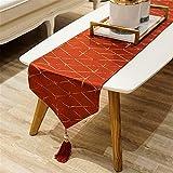 QXbecky Tischläufer goldenes Sternenlicht Licht Luxus Stil modernen minimalistischen Esstisch Couchtisch Schuhschrank Tischdecke TV-Schrank lange Tee Tischdecke Bett Flagge 34x210