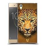 Head Case Designs Leopard Portrait Tiergesichter 2 Soft Gel Handyhülle Hülle Huelle und Passende Designer Hintergrundbilder kompatibel mit Sony Xperia XA1 Plus