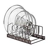 Toplife Topfdeckelhalter, Metale Geschirrständer für Topfdeckel, Teller, Schneidebretter und Pfannen mit 7 verstellbaren Fächern, ideal für Küchenutensilien
