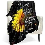 Bold And Brash Kuscheldecke An Meine Mutter Von Tochter Decke, Sonnenblumen Gelb Blume Decke Weich Personalisierte Positiv Ermutigen Decke für Mama Fleece Blanket, Geschenk Für Mama,100x130cm