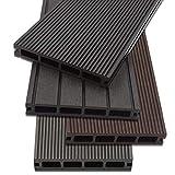 Home Deluxe - WPC Terrassendiele Dunkelbraun - Inkl. Unterkonstruktion und kompl. Zubehör (16 m²) | Terrassenboden Poolumrandung Balkonbelag