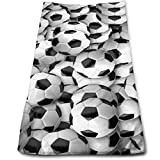 Mxung Fußbälle Mehrzweckhandtücher Hochleistungsküchenbarhandtuch für Handgesichtschale Gym und Spa 12 × 27,5 Zoll